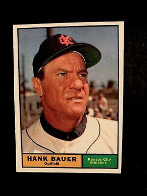 1961 Topps #398 Hank Bauer ~ Kansas City Athletics ~ NM-MT