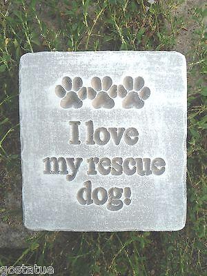 """Rescue dog mold  6"""" x 5.5"""" Plastic concrete plaster mold"""