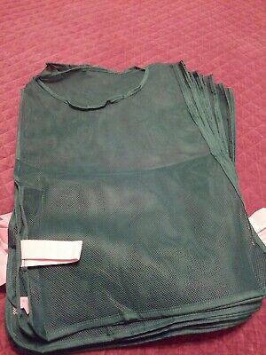Champion Sports Adult Mesh Pinnie, Green - 12 Pack ()