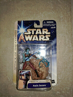STAR WARS ATTACK OF THE CLONES AAYLA SECURA ACTION FIGURE