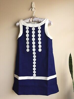 NWT Gymboree Size 7 Sleeves Less Blue Jumper dress
