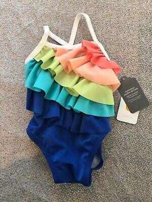 NWT Gymboree baby girl ruffled rainbow one-piece bathing suit swim 0 3 6