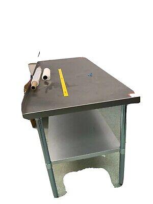 24 X 60 Stainless Steel Table Work Prep Undershelf Restaurant Indoor