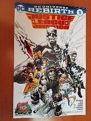 Justice League of America # 1 DC Rebirth (1st Print) Coast2Coast ComiCon Variant