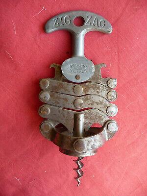 Tire bouchon zig zag bte sgdg de jules bart année 1942 old corkscrew cavatappi