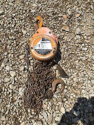 Harrington Cf015 1-12 Ton 10 Lift Manual Chain Fall Hoist