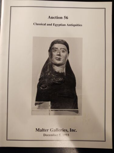 Joel L. Malter Auction Catalog, #56 Classical and Egyptian Antiquities, Dec 1993