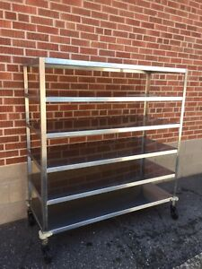 Commercial Stainless Rolling Racks Shelves