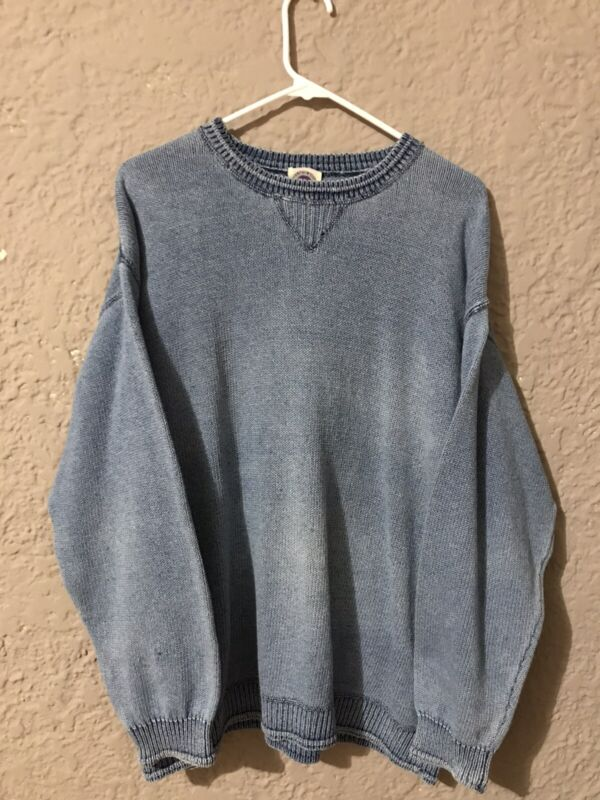 Vintage Real Clothes by Saks knit sweater. Mens Large. 80s grunge boat scott