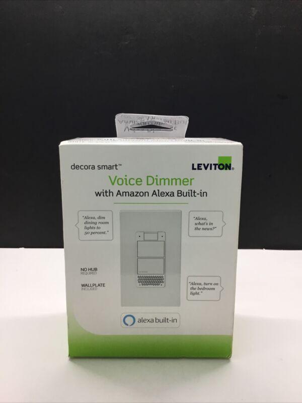 NEW Leviton Decora Smart Wi-Fi Voice Dimmer, Amazon Alexa (R01-DWVAA-1RW)