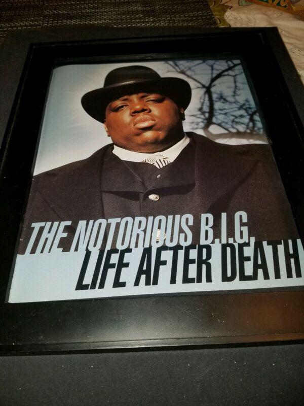 Notorious B.I.G. Rare Original Life After Death Promo Poster Ad Framed! #2