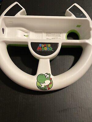 Yoshi Mario Kart Nintendo Wii Rare Racing Steering Wheel Super Mario Green Great