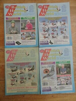 4x British Homing World racing pigeon birds magazines back issue October 2017