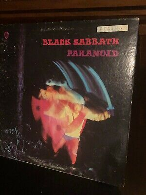 Black Sabbath Paranoid WB 1970 Issue LP sounds VG+/ Cover is VG+ with a printed