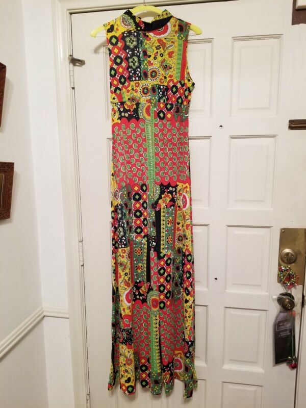 VINTAGE 60's PSYCHEDELIC PALAZZO JUMPSUIT by Fritzi of California.