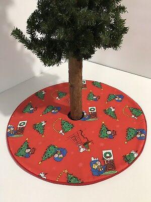 "Peanuts Charlie Brown Tree Skirt - 20.5""- Christmas Morning Snoopy - Custom Made ()"