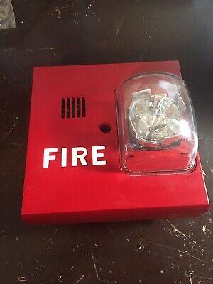 Faraday Fire Alarm Horn Strobe Model 2834 With Mount Multi Candela Siemens