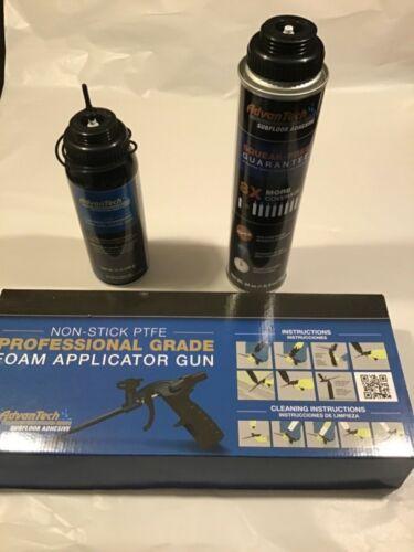 ADVANTECH Professional Grade Foam Applicator Gun W/24 OZ.Adhesive & Foam Cleaner