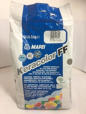 Mapei Keracolor FF DE Grout 5kg Cement Gray Water repellent 4 x 5Kg*