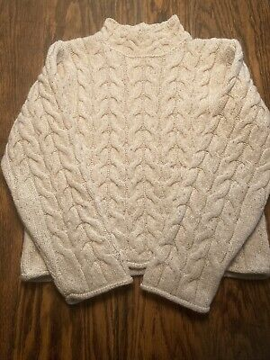 Irelandseye Merino Wool Silk Women's Knit Sweater Small Raglan Sleeves EXC.!!!
