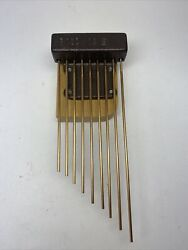 Vintage Triple Chime Mantel Clock Chime Rods Assembly Block NOS B122/15