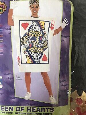 Brand New Queen of Hearts Card Adult Halloween Costume