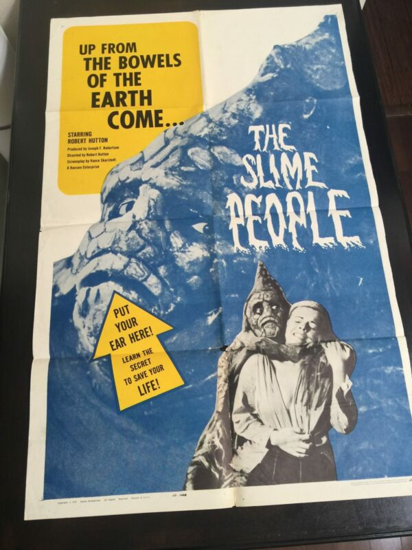 Slime People, The (1963) US One Sheet Movie Poster - Folded
