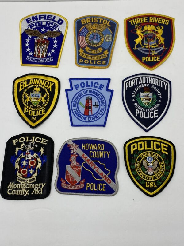 Police Patches Lot Connecticut Pennsylvania Maryland Michigan Federal
