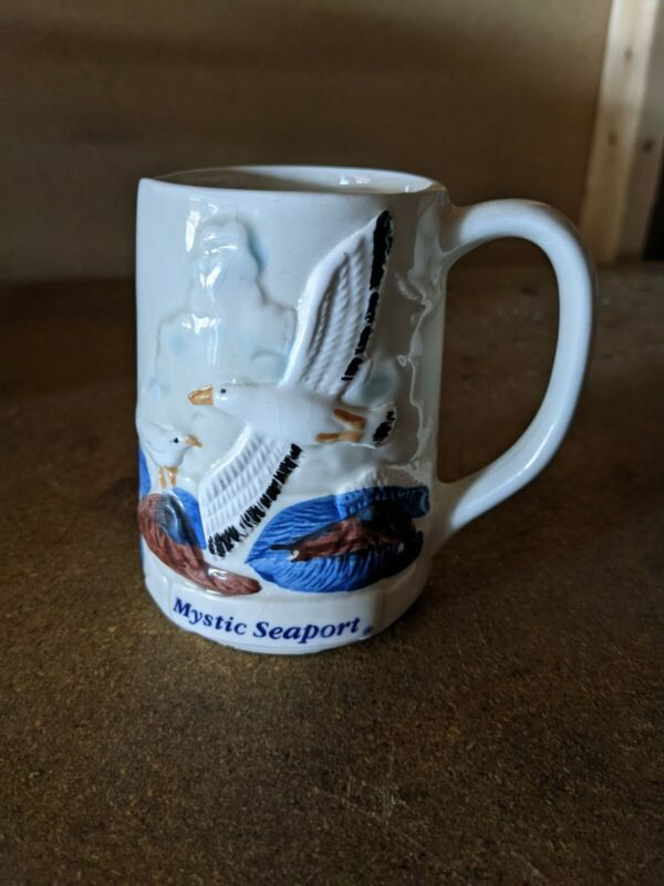 Vintage Mystic Seaport  Embossed Coffee Mug Cup - by Nanco