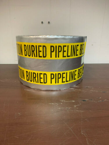 """Detectable Buried Pipeline Tape 6"""" x 1000"""