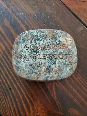 VINTAGE GODDARDS MARBLE POLISH TIN