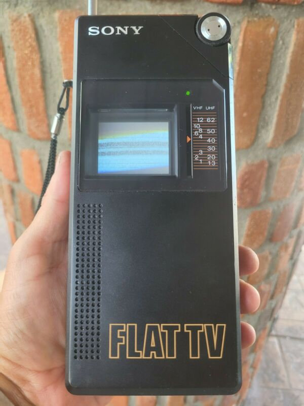 UPDATED! RARE!!! 1982 Sony FD-200 Flat TV (1st Watchman) Portable - WORKING!