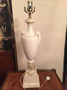 Large white marble lamp