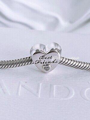 Authentic Pandora Best Friend Heart Charm W/Gift Pouch Birthday Just (Best Friend Pandora Bead)