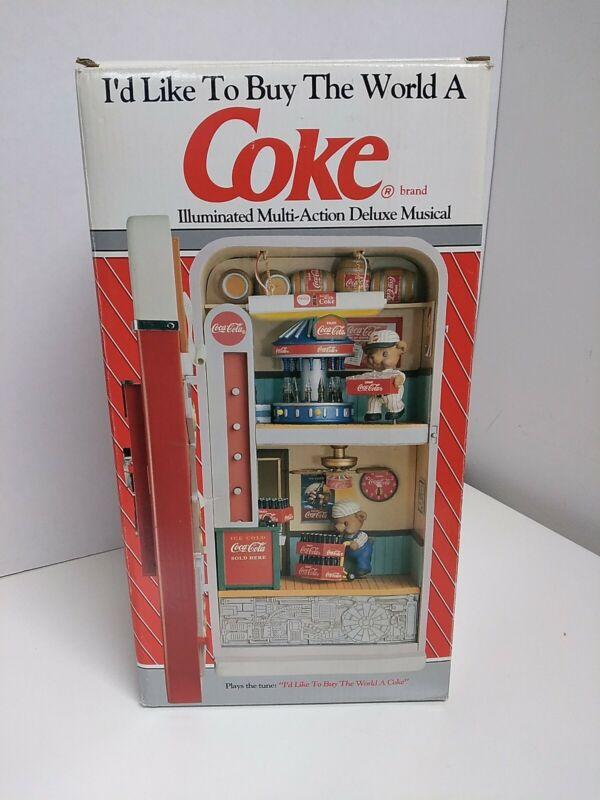 1993 Coke Enesco Brand Illuminated Multi-Action Deluxe Musical