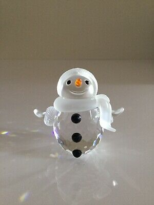Swarovski Crystal Mint Figure Little Snowman With Scarf 250229