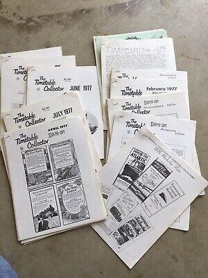 lot of 1970s railroad timetable collectors publication