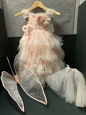 5pc Pottery Barn Kids 3T Monique LHUILLIER FAIRY Princess COSTUME Halloween NEW