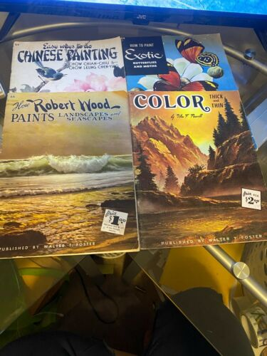 Lot of 11 Vintage WALTER T FOSTER How To Draw & Paint Art Books
