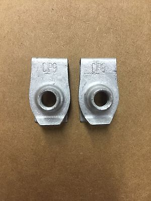 Set of 2: Chevy GM Zinc Extruded U Nuts Air Deflector 11516372 20416 USA SELLER