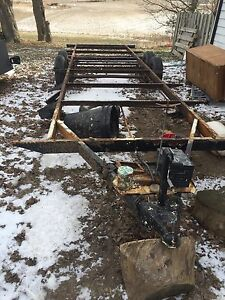 28 foot stripped camper trailer frame