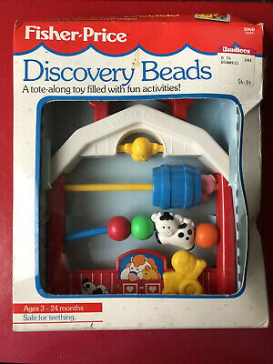NEW NIB Vintage Fisher Price Activity Center Discovery Beads Farm House, FP 1060