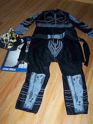 Boys Size Large 10-12 Star Wars Savage Opress Halloween Costume Jumpsuit Mask](Savage Opress Halloween Costume)