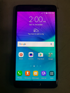 Black Samsung note 4