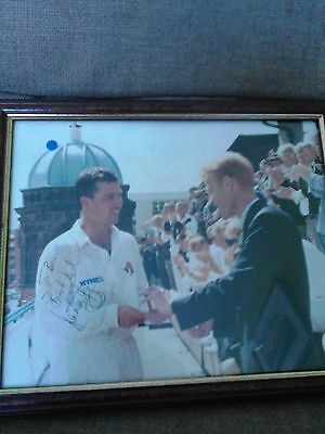 Warren Hegg autographed framed photo