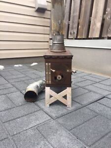 Ammo can tent stove