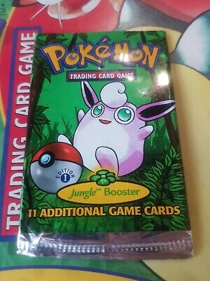 Empty 1st edition Jungle Set Pokemon Booster Pack 1999 Wigglytuff art No Cards