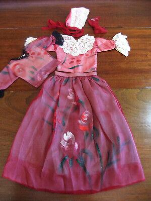 Set 4 Pièces Vintage for Antique Doll Tulle Painted