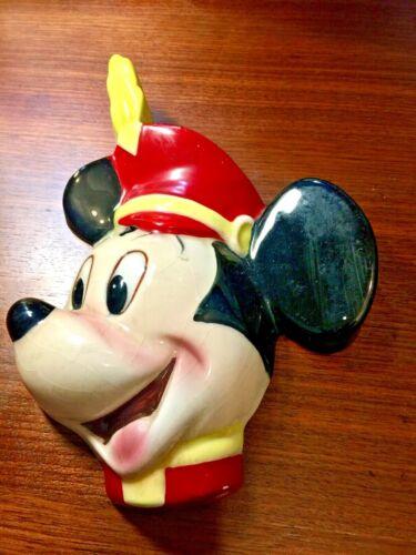 Disney MICKEY MOUSE CERAMIC WALL PLAQUE 1965 CUERNAVACA MEXICO Original