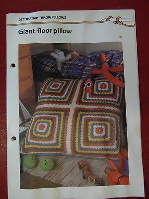 Giant Floor Pillow crochet PATTERN INSTRUCTIONS FREE SHIPPING